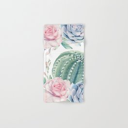 Cactus Rose Succulents Garden Hand & Bath Towel