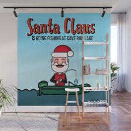 Santa Claus is going Fishing at Cave Run Lake Wall Mural