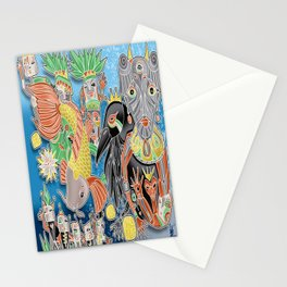 koi temple Stationery Cards