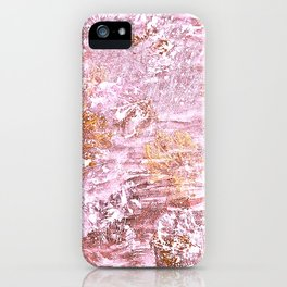 Abstract Autumn In Gold-Rosé iPhone Case