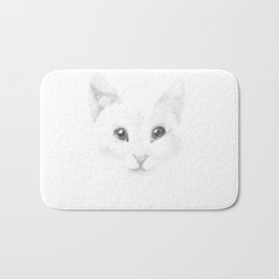Winter cat Bath Mat