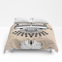 patent art type writing machine Comforters