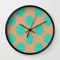 southwest Wall Clocks featuring Southwest Summer by Lisa Argyropoulos