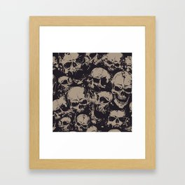 Skulls Seamless Framed Art Print