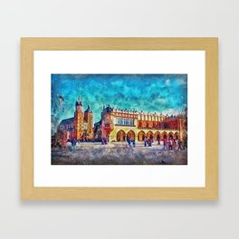 Cracow Main Square Framed Art Print
