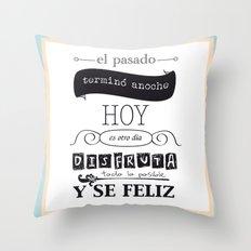 ¡Vive el presente! Throw Pillow