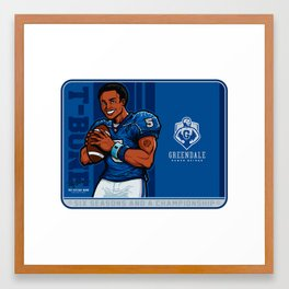 Troy Barnes: Star Quarterback Framed Art Print