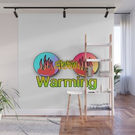 GLOBAL WARMING Graphic Design Illustration Wall Mural