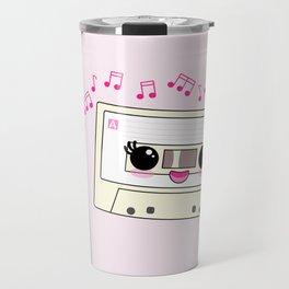 Cute pen and cassette lovers Travel Mug