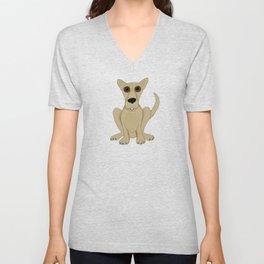 Basic Brown Dog Unisex V-Neck