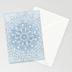Frozen Aqua Mandala Stationery Cards