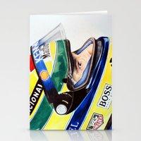 senna Stationery Cards featuring Senna by Gabriel Fox