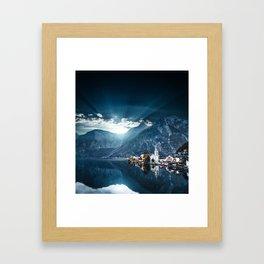 hallstatt in austria Framed Art Print