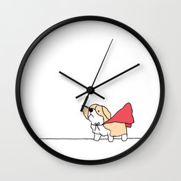 Corgi Cape Superwoman Superman Wall Clock