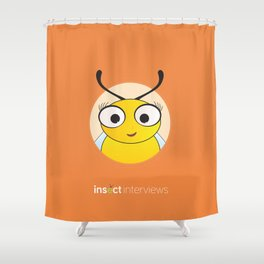 Becky the Bee Shower Curtain