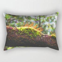 Beautiful abstract moss in rain forest Rectangular Pillow