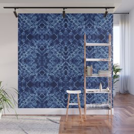 Indigo Diamonds Wall Mural