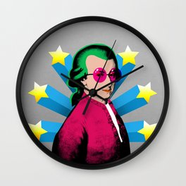 Wolfgang Amadeus Mozart Rock Superstar Wall Clock