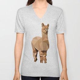 Alpaca animal Geometric art Unisex V-Neck