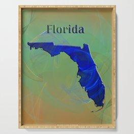 Florida Map Serving Tray