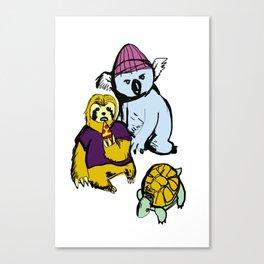 sloth koala turtle squad Canvas Print