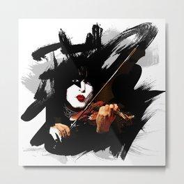 Paganini devil violinist  Metal Print