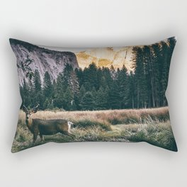 Yosemite Valley Buck Rectangular Pillow