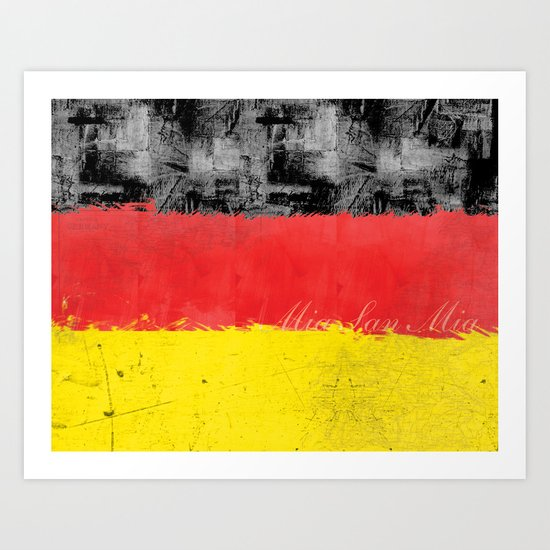 Germany Flag Art Print