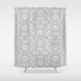 Thistles on Grey Shower Curtain