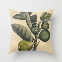 fig Throw Pillows featuring Fig by Connie Goldman