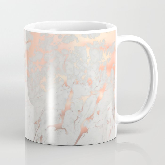Rose Gold Marble Coffee Mug By Martaolgaklara Society6