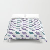 iris Duvet Covers featuring Iris by Zen and Chic