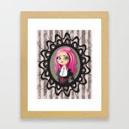 Gothic doll crying Framed Art Print