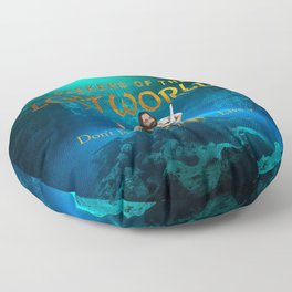 Seekers of the Lost Worlds Floor Pillow