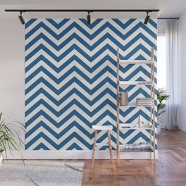 Chevron Blue  -  Pattern -  01 Mix & Match Wall Mural