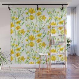 Yellow Field flowers Wall Mural