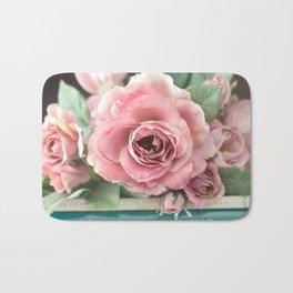 Roses Pink Peach Romantic Rose Flowers Gardening Decor Bath Mat