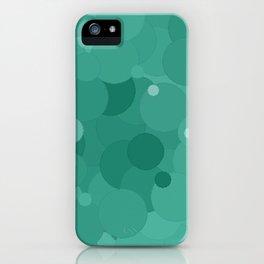 Lucite Green Bubble Dot Color Accent iPhone Case