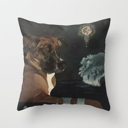 Jango and the Dreamcatcher Throw Pillow