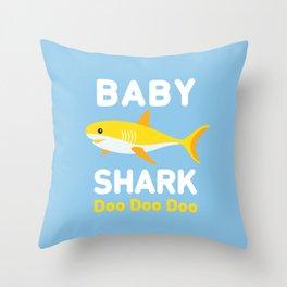 Baby Shark Throw Pillow