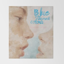 Blue is the warmest colour - chapter one - hand-painted movie poster - Throw Blanket