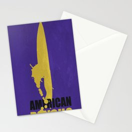 American Psycho Minimalist Poster Stationery Cards