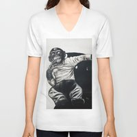 gangster V-neck T-shirts featuring Original Gangster by Esau Rodriguez Art