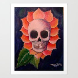 Skull Petals Art Print