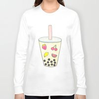 boba Long Sleeve T-shirts featuring Boba by Anastasia Flowers