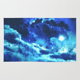 Blue on Moon Rug