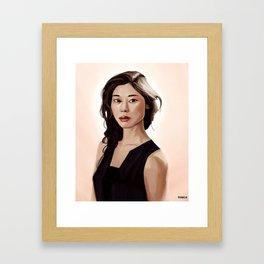 Woman Portrait Framed Art Print