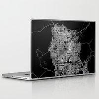 las vegas Laptop & iPad Skins featuring Las Vegas map by Line Line Lines