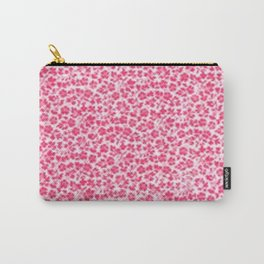 Pink Vintage Flowers Carry-All Pouch