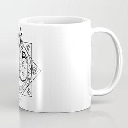 Invisible Sun Symbol on White Coffee Mug